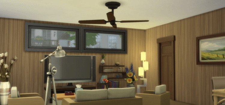Simpler Times Ceiling Fan CC in The Sims 4