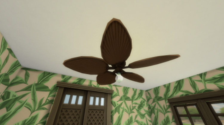 Functional Ceiling Fan / Sims 4 CC