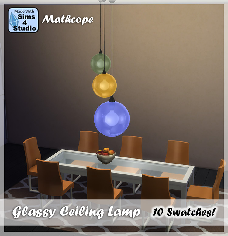 Glassy Ceiling Lamp / Sims 4 CC