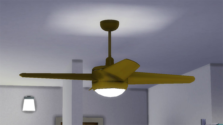 Animated Ceiling Fan Light for The Sims 4