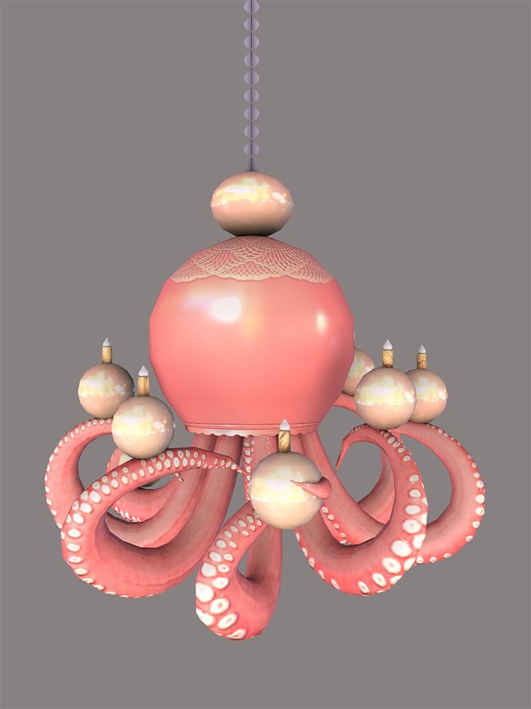 Octopus Ceiling Light Design / Sims 4 CC