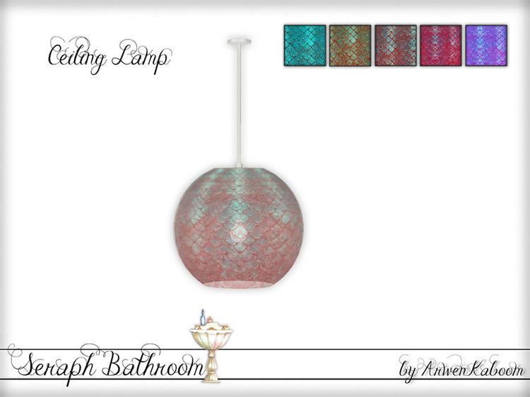 Seraph Ceiling Lamp / Sims 4 CC