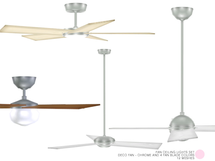 Fan Ceiling Lights Set for The Sims 4