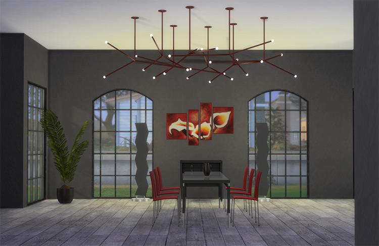 Ceiling Lamp Constellation Design / Sims 4 CC