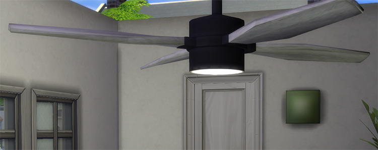 Ceiling Fan with Built-In Lamp for The Sims 4