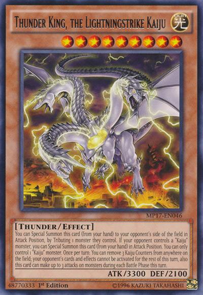 Thunder King, The Lightningstrike Kaiju YGO Card