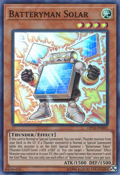 Batteryman Solar YGO Card