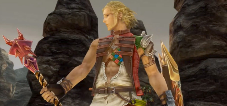 Basch holding a mace in Final Fantasy XII: The Zodiac Age