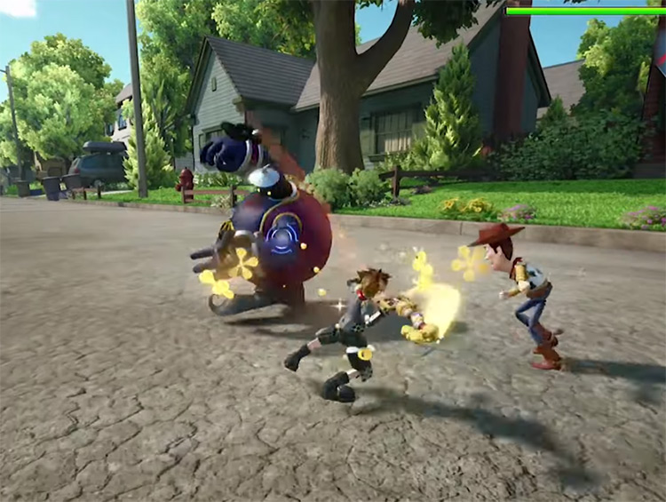 Combo Master in Toy Story World / KH3 Screenshot