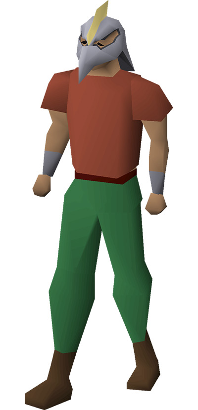 Armadyl Helmet on character from OSRS