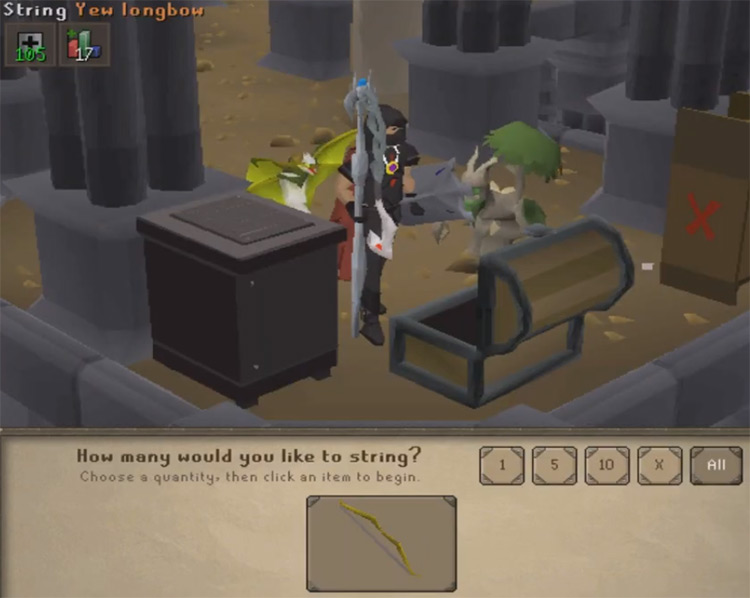 Fletching Stringing Bows in OSRS