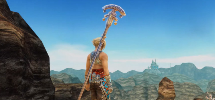 Vaan White Mage with Rod in FFXII: The Zodiac Age