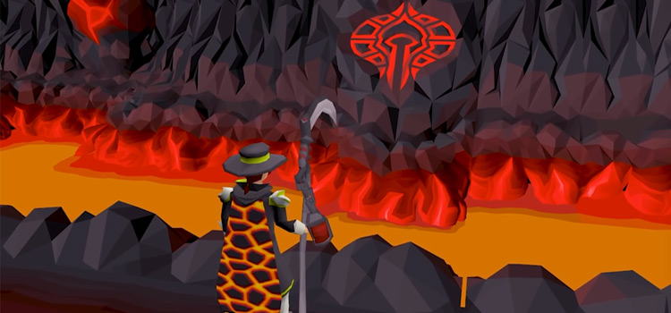 Nightmare Zone Lava Pit HD Screenshot / OSRS