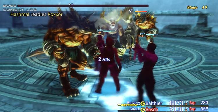 Hashmal in Stage 49 Trial Mode / FFXII Screenshot