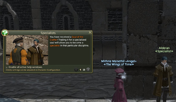 Getting Soul of the Crafter in FFXIV