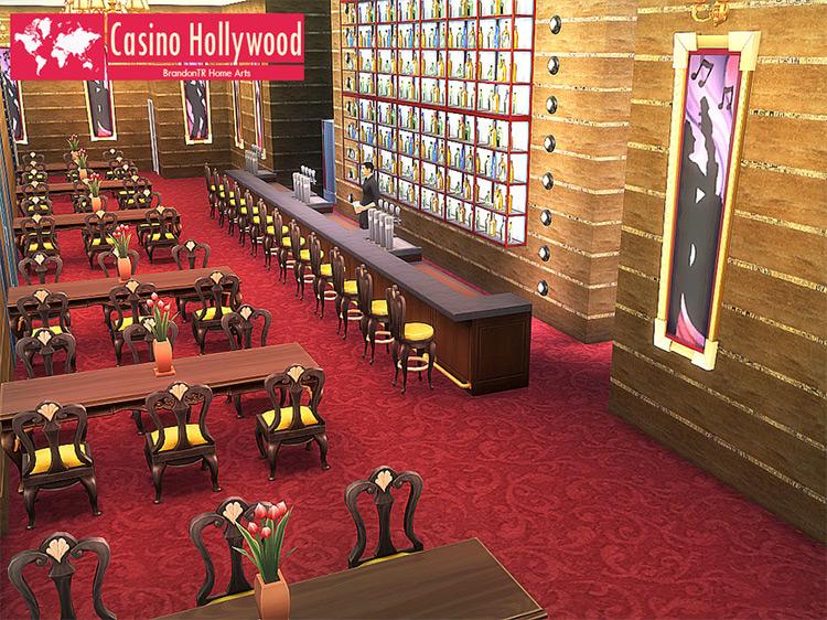 Casino Hollywood Lot Build / TS4 CC