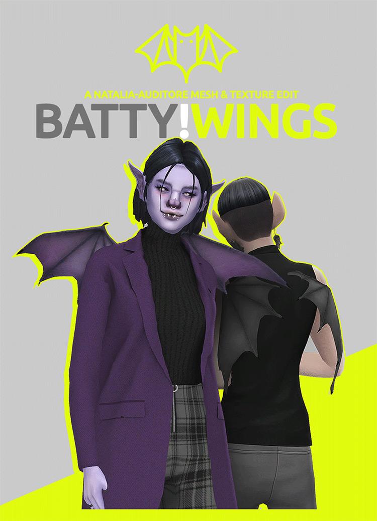 Bat Wings / Sims 4 CC