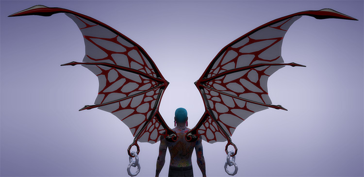 Spooky Wings Pack for The Sims 4
