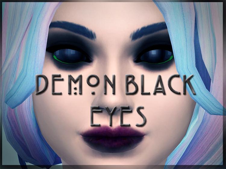 Dark Black Demon Eyes / TS4 CC