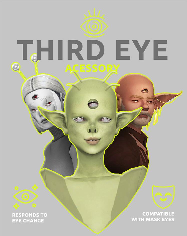 Third Eye Accessory / Sims 4 CC