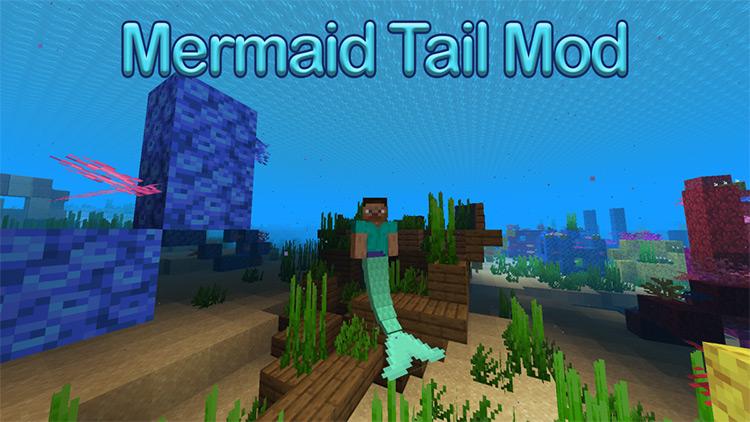 Mermaid Tail Mod screenshot / Minecraft