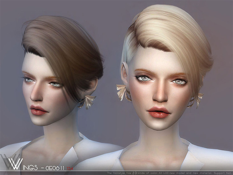 WINGS-OE0912 Pixie Hairdo for The Sims 4
