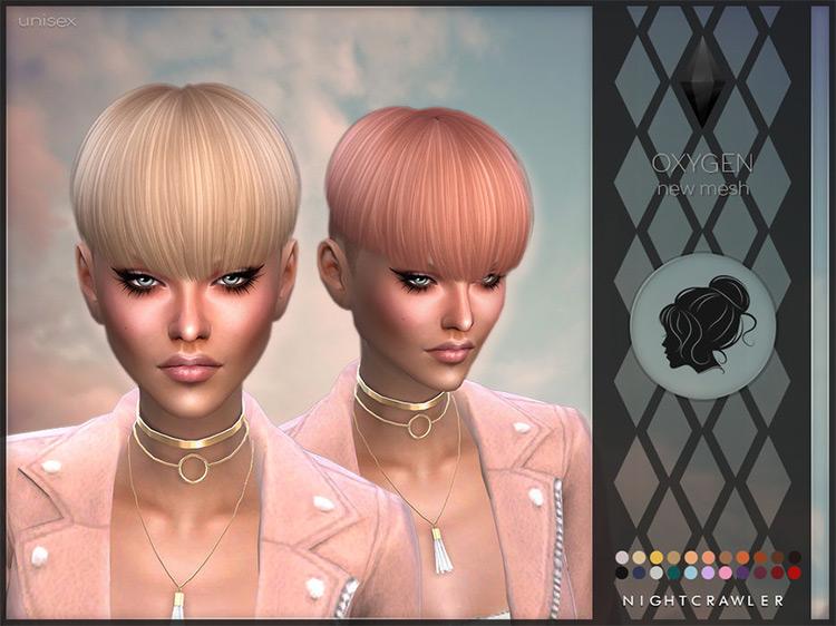 Oxygen Pixie Hairdo / Sims 4 CC