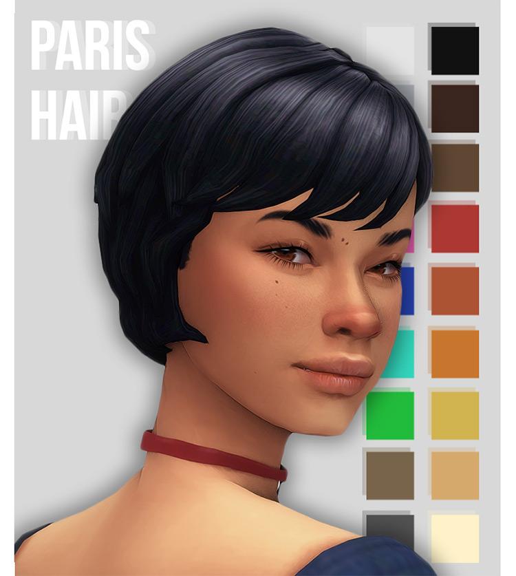 Paris Pixie Hair for The Sims 4