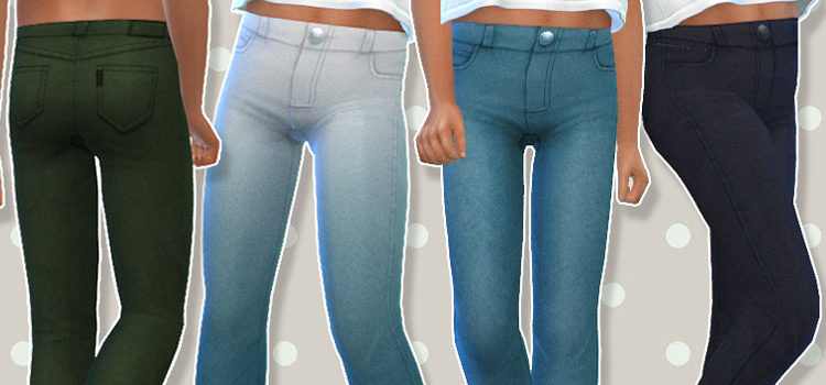 The Sims 4: Children's Jeans CC & Mods (All Free)