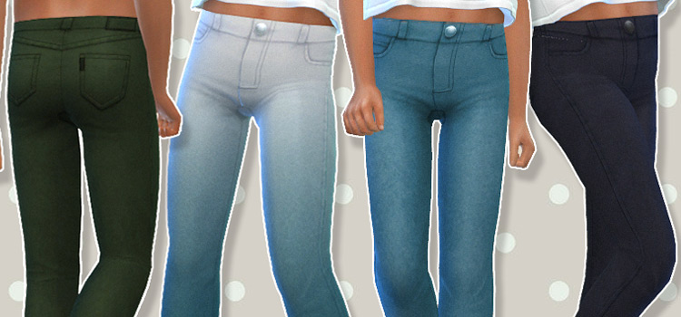 High wasted child jeans CC for The Sims 4