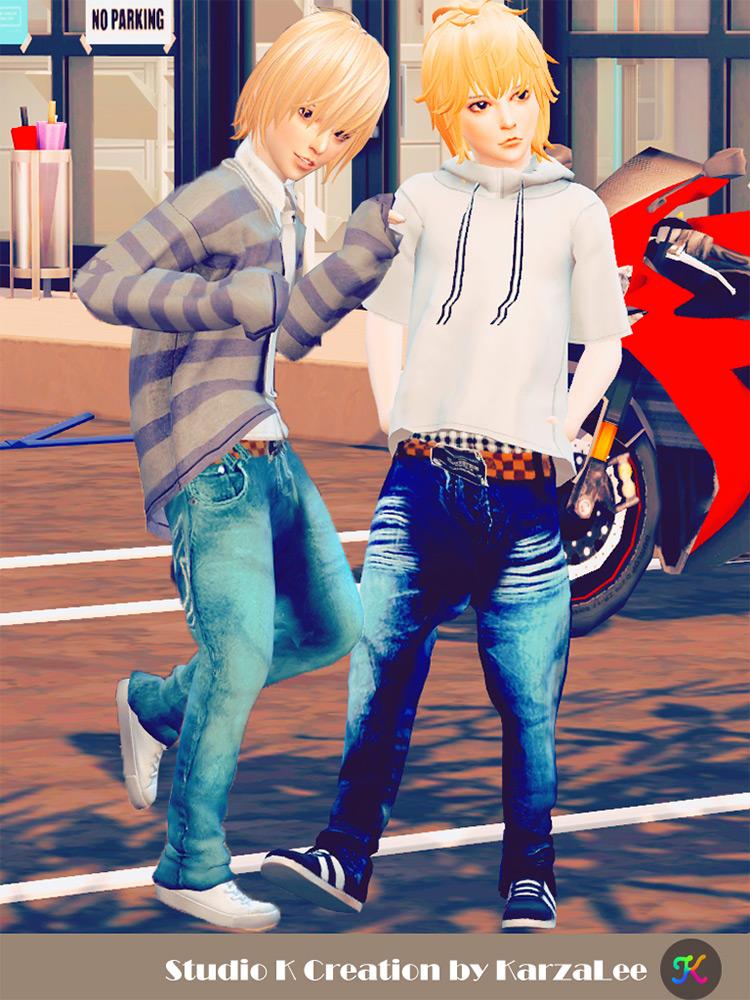 Harem Jeans for Children / Sims 4 CC