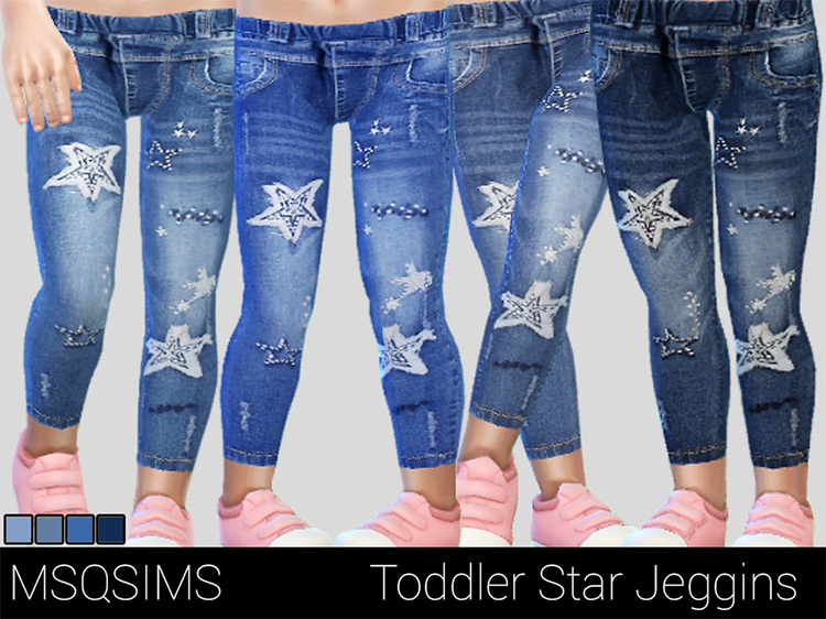 Toddler Star Jeggings / Sims 4 CC
