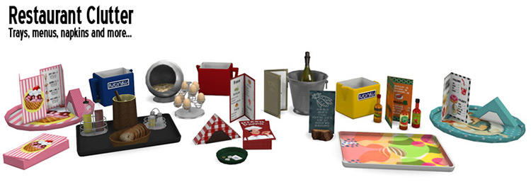 Restaurant Clutter for The Sims 4