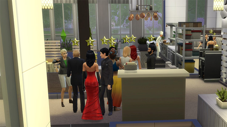 More Realistic Restaurant Mod for The Sims 4