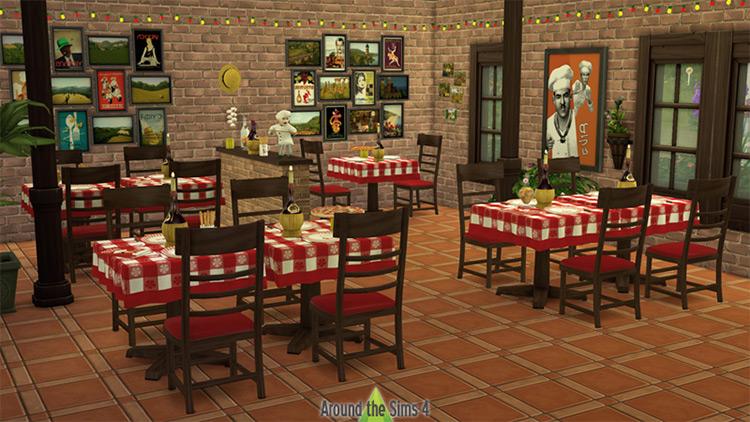 Pizzeria Set / Sims 4 CC
