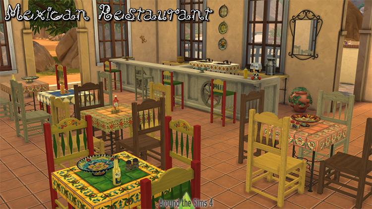 Mexican Restaurant Furniture & Decor / TS4 CC