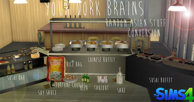 Random Asian Stuff Conversion Set for The Sims 4