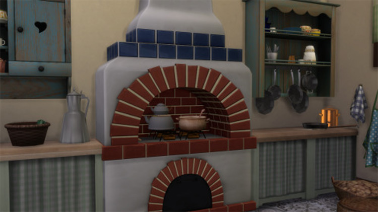 Stone Oven For Kitchen / Sims 4 CC