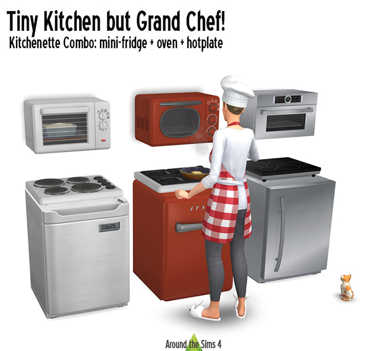 Tiny Kitchen but Grand Chef for The Sims 4