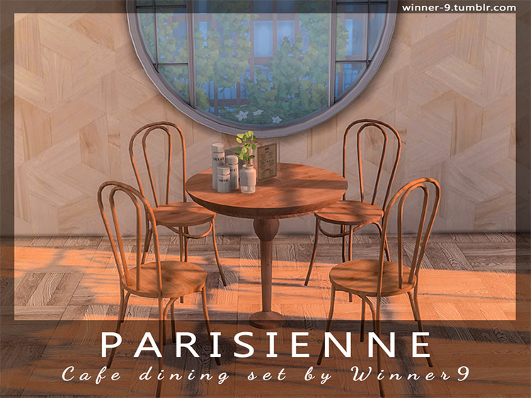 Parisienne Cafe Dining Set / Sims 4 CC