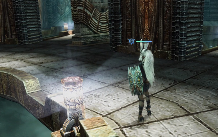 Fran getting items for Nature's Armory Bazaar in FFXII TZA