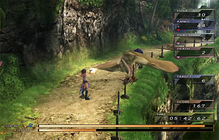 Gunners Gauntlet Screenshot from FFX-2 HD