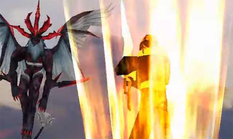 Squall using Limit Break in FF8 HD