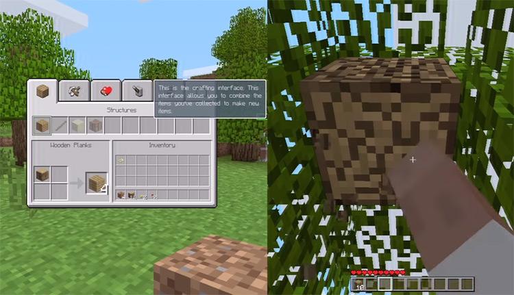 Minecraft Xbox 360 game screenshot