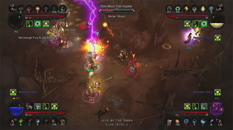 Diablo III / Xbox 360 Multiplayer screenshot