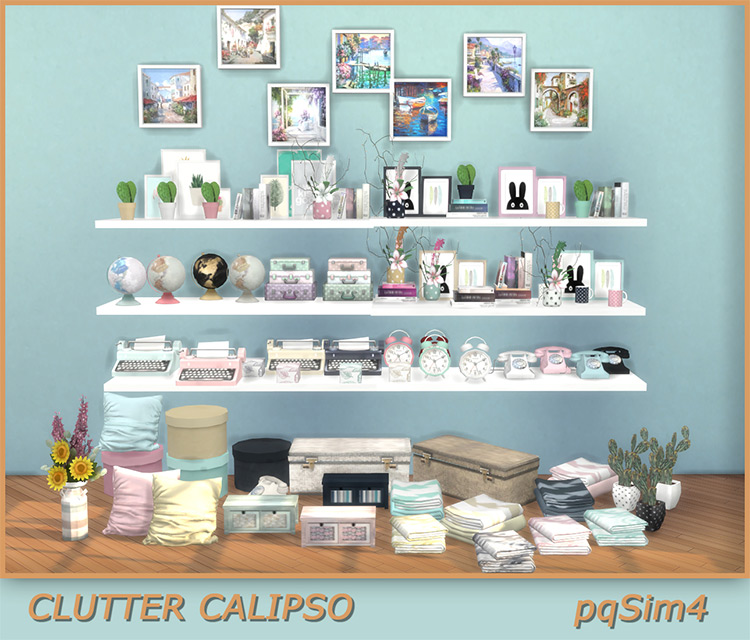 Clutter Calipso Set for The Sims 4