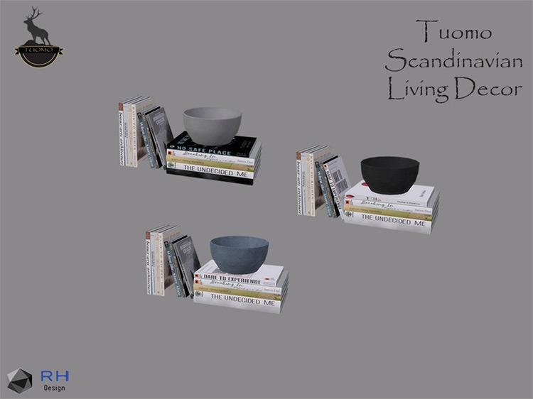 Tuomo Bookcase Clutter / Sims 4 CC
