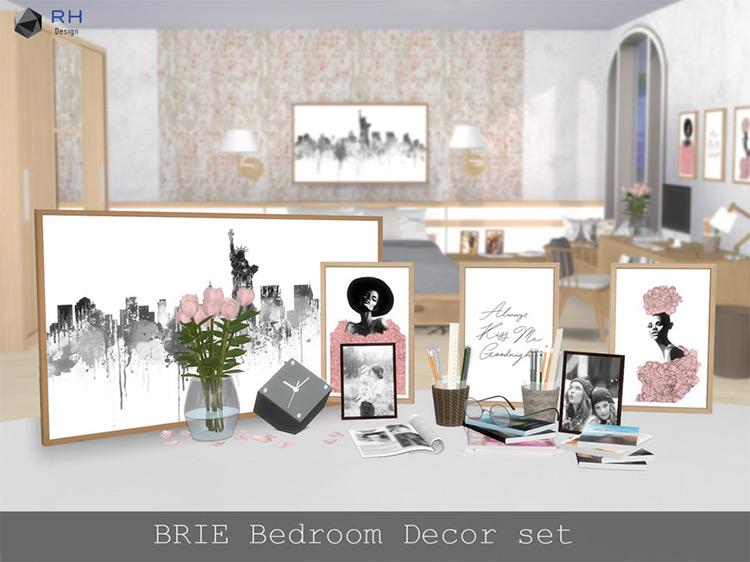 BRIE Bedroom Decor Set / Sims 4 CC