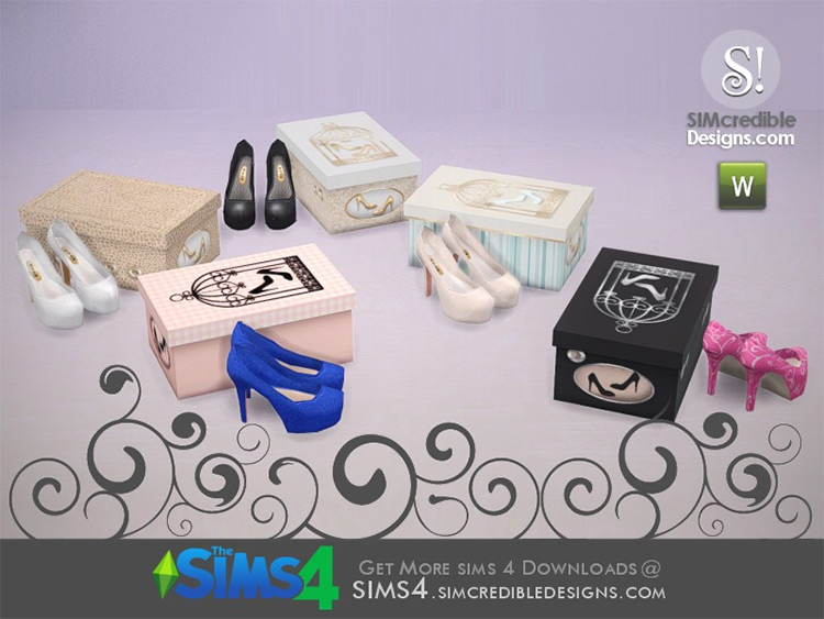 Glory Shoes & Box Décor for The Sims 4