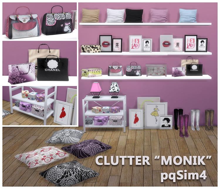 Monik Bedroom Clutter Set / Sims 4 CC